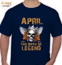 Legends are Born in April LEGENDS-BORN-IN-APRIL-.-. T-Shirt