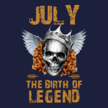 7b5bd49ea Legends are Born in July t-shirts for Men and Women [Editable Designs]