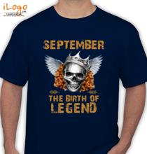 Legends are Born in September LEGENDS-BORN-IN-SEPTEMBER-.-. T-Shirt