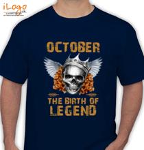 Legends are Born in October LEGENDS-BORN-IN-OCTOBER-.-. T-Shirt