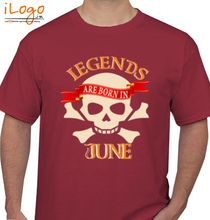Legends are Born in June LEGENDS-BORN-IN-June.-. T-Shirt