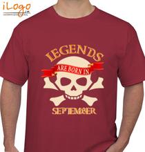 Legends are Born in September LEGENDS-BORN-IN-September.-. T-Shirt