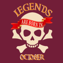 Legends are Born in October LEGENDS-BORN-IN-October.-. T-Shirt
