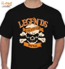 Legends are Born in April LEGENDS-BORN-IN-April% T-Shirt