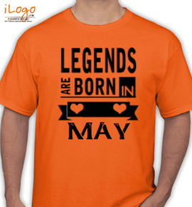 Legends are born in may%B - T-Shirt