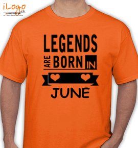 Legends are born in june% - T-Shirt