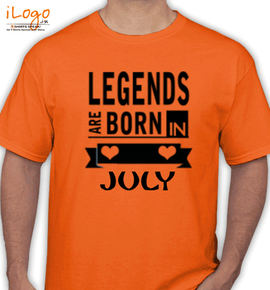 Legends are born in july% - T-Shirt