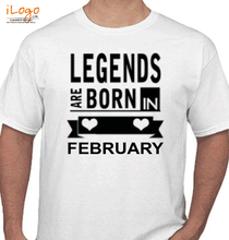 Legends are Born in February Legends-are-born-in-february%B T-Shirt