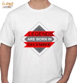 LEGENDS BORN IN DECEMBER.. . - T-Shirt