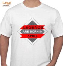 Legends are Born in April LEGENDS-BORN-IN-APRIL..-. T-Shirt