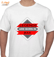 Legends are Born in July LEGENDS-BORN-IN-JULY.-.-. T-Shirt