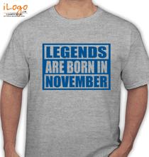 Legends are Born in November Legends-are-born-in-November% T-Shirt