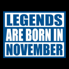 Legends are Born in November Legends-are-born-in-November. T-Shirt