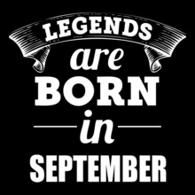legeds-are-born-in-september T-Shirt