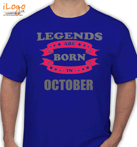 Legends are born in October - T-Shirt