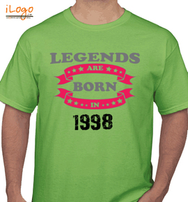 legend are born in . - T-Shirt