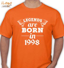 legend are born in %C%C. - T-Shirt