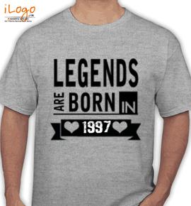 legend are born in %C%C%C - T-Shirt