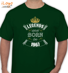 Legends are born in % - T-Shirt