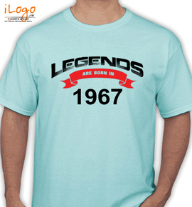 Legends are born in %A%A - T-Shirt