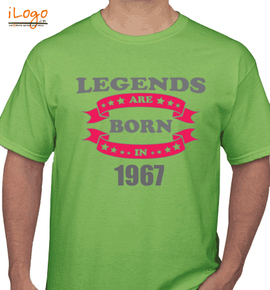 Legends are born in / - T-Shirt