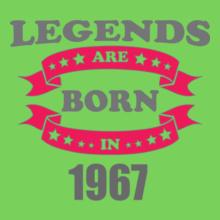 Legends are Born in 1967 Legends-are-born-in-/ T-Shirt
