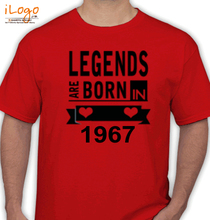 Legends are Born in 1967 T-Shirts