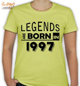 legend are born in %B.%C - T-Shirt [F]
