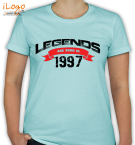 legend are born %C%C%C%C%C%C - T-Shirt [F]