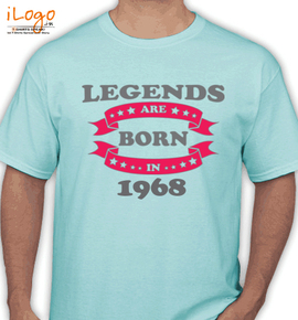 Legends are born in %A. - T-Shirt