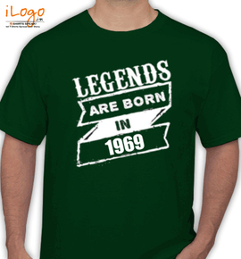 Legends are born in %A%C - T-Shirt