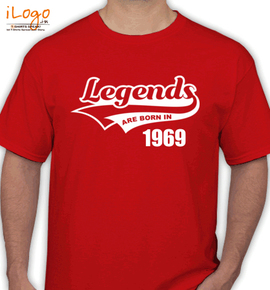 Legends are born in %B%A - T-Shirt