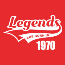 Legends are Born in 1970 Legends-are-born-in-% T-Shirt