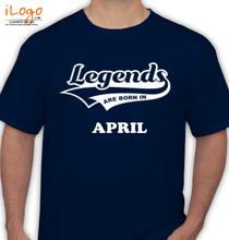 Legends are Born in April Legends-are-born-in-april..... T-Shirt