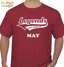 Legends are Born in May Legends-are-born-in-may% T-Shirt