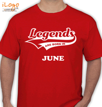 Legends are Born in June Legends-are-born-in-june// T-Shirt
