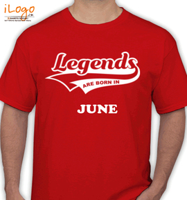 Legends are born in june// - T-Shirt