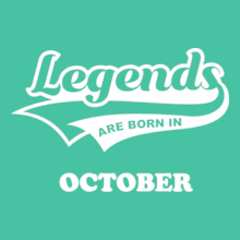 Legends are Born in October Legends-are-born-in-october%B%B T-Shirt