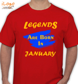 Legends are born in january%B%B - T-Shirt