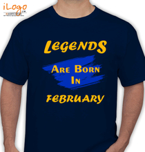 Legends are Born in February Legends-are-born-in-february%B%B T-Shirt
