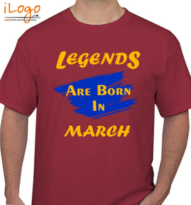 Legends are born in march.. - T-Shirt