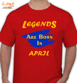Legends are born in april%C%C - T-Shirt