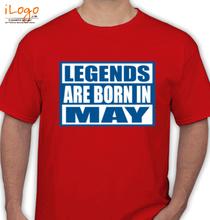 Legends are Born in May Legends-are-born-in-may... T-Shirt
