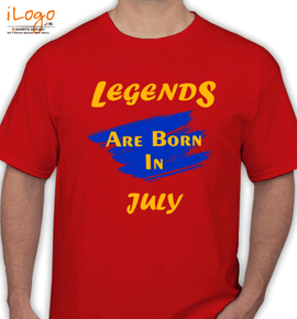 Legends are born in july.. - T-Shirt