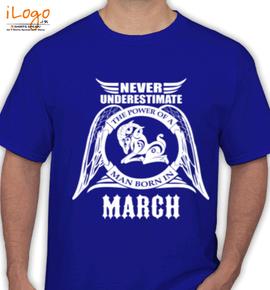 LEGENDS BORN IN MARC.... . - T-Shirt