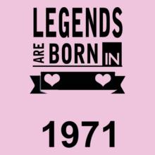 Legends are Born in 1971 Legends-are-born-in-. T-Shirt