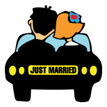 just-married-car T-Shirt
