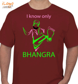 i only knw bhangra - T-Shirt