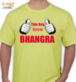 this boy knw bhangra - T-Shirt