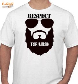 respect beard - T-Shirt